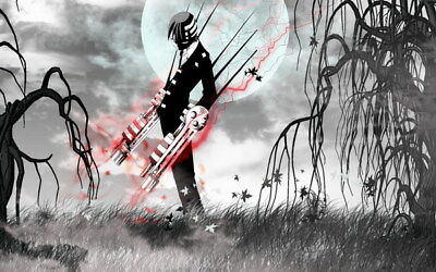 """090 Soul Eater - Shinigami Death the kid Anime 38""""x24"""" Poster"""