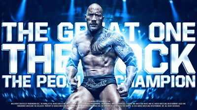 """114 Dwayne Johnson - The Rock Fast Furious Muscle Strong USA Star 42""""x24"""" Poster"""