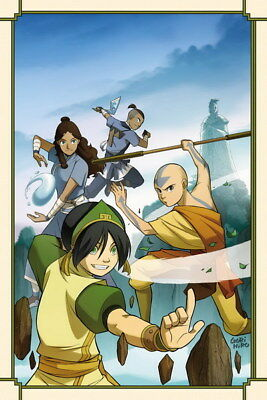 """166 Avatar The Last Airbender - Aang Fight Japan Anime 24""""x36"""" Poster"""