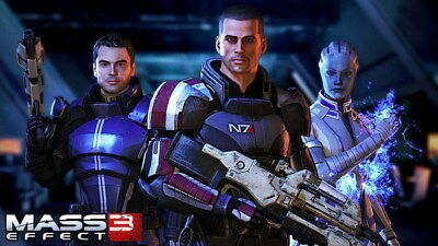 "091 Mass Effect 3 - ME Killer Fighting Shooting Hot TV Game 42""x24"" Poster"