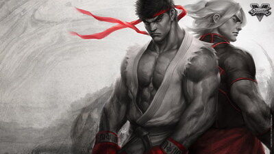 """127 Street Fighter - Fight Ryu Guile Ken ChunLi Game 42""""x24"""" Poster"""