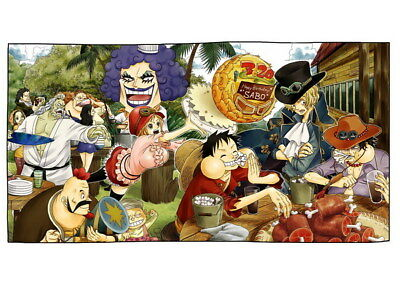 """198 One Piece - ACE OP Monkey D Luffy Fighting Japan Anime 33""""x24"""" Poster"""