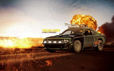 """120 Mad Max 4 Fury Road - Fight Shoot Car USA Movie 38""""x24"""" Poster"""
