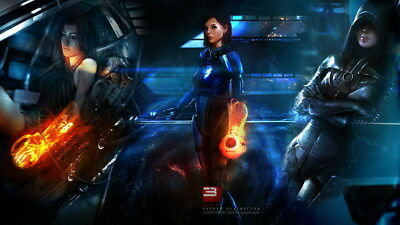 "127 Mass Effect 3 - ME Killer Fighting Shooting Hot TV Game 42""x24"" Poster"