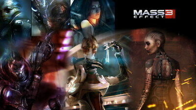 """128 Mass Effect 3 - ME Killer Fighting Shooting Hot TV Game 42""""x24"""" Poster"""