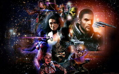 "234 Mass Effect 3 - ME Killer Fighting Shooting Hot TV Game 38""x24"" Poster"