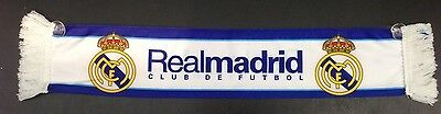 REAL MADRID FC mini scarf /cross flag / mini banner (8cm x 42cm)