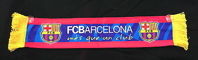 BARCELONA FC mini scarf / cross flag / mini banner (8cm x 42cm)