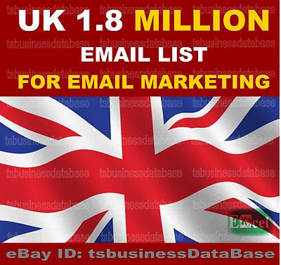 Uk 1.8 Million Email List  For Email Marketing
