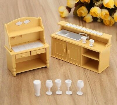 Doll house kitchen furniture set 1:12 scale