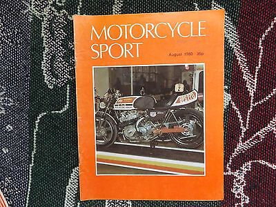 Motorcycle Sport Magazine - August 1980 - Kawasaki Turbo Dragster Cover