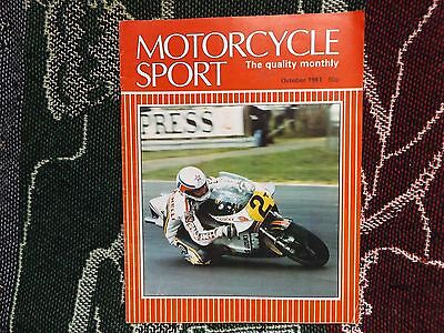 Motorcycle Sport Magazine - October 1981 - Marco Lucchinelli Cover