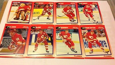 NHL-Calgary Flames- Score 91- Red Variant Cards- Vernon/ Roberts/ Niewendyk & Co