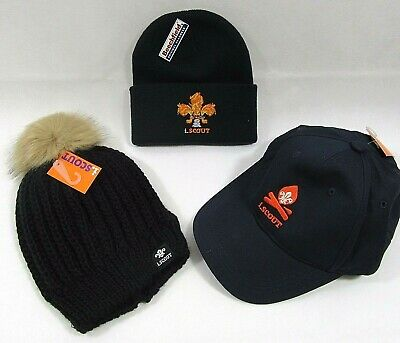 Mens Adults Teen iScout i Scout Cap Pom Pom Bobble Hat Flame Logo Beanie Hat