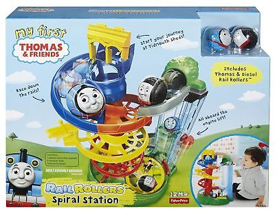 Thomas And Friends My First Thomas Rail Rollers Spiral Station Characters BNIB