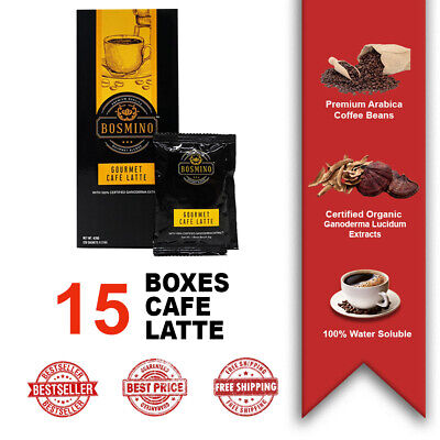 New Organo Gold Cafe Latte 15 Boxes 100% Organic Ganoderma Gourmet Express