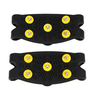 Anti Slip Snow Ice Climbing Spikes Grips Crampon Cleats 5-Stud Shoes Cover