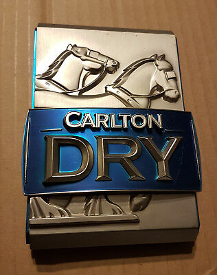 Carlton Dry Metal Tap Badge Collectable