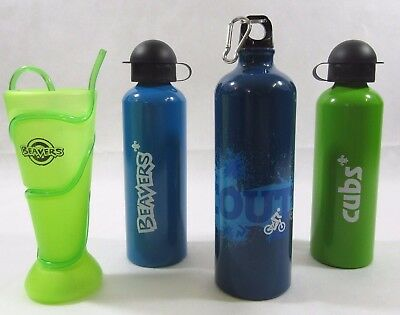 Kids iScout i Scout Beavers Cubs Water Bottle Flask Tumbler Straw Helter Skelter
