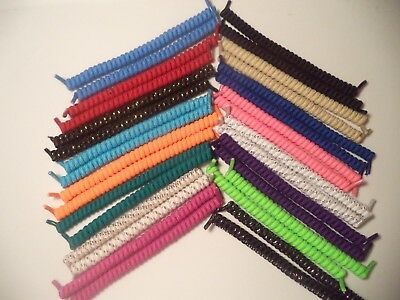 Curly Elastic No Tie Shoelaces Disability Mobility Aid Kids & Adults Made in USA