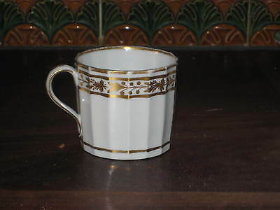 English Regency Period Coffee Can  Cup Faceted Gilded Dec