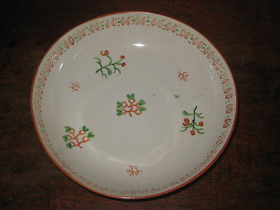 NEW HALL SAUCER BOWL CIR 1790S finely simply HAND PAINTED