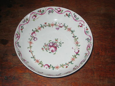 NEW HALL SAUCER BOWL REGENCY  HAND PAINTED FLORALS repaired