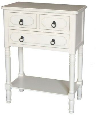 Antique White Pine End Table Antique white Off-white Casual Wood Style Side