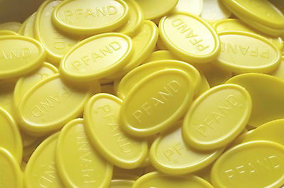 Deposit Coins Tokens Beverage Oval - Color: Yellow Quantities Selectable