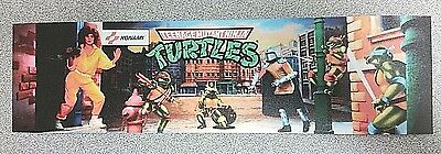 TMNT arcade marquee sticker. 2.75 x 10. (Buy any 3 stickers, GET ONE FREE!)