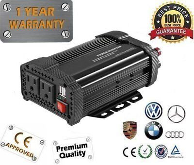 New 2000W Peak DC12V to AC 110V Solar Power Inverter Converter USB Output AB