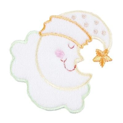 Baby Moon on a Cloud Embroidered Patch Embellishment Sew on/Iron on