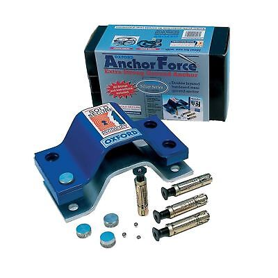 Oxford Anchor Force Ground Anchor Motorcycle Motorbike Security New Blue