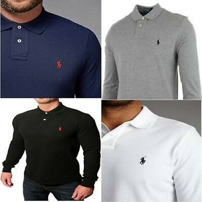 Ralph Lauren Long Sleeve T Shirt - Custom Fit - S, M, L, XL