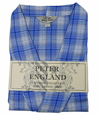 Peter England Blue Check With Dogtooth Warm Handle Gown
