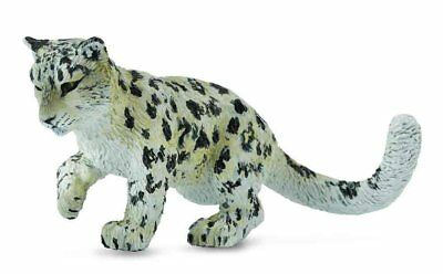 CollectA Wildlife Snow Leopard Cub - Playing Toy Figure - Authentic Hand Painted