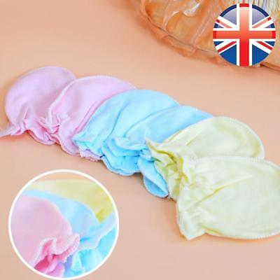 *UK Seller* 2 Pcs Infant Baby Toddler Soft Anti Scratch Gloves Mitts Mittens