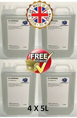 PROFESSIONAL SPARKLING GLASS WASH CLEANING DETERGENT RESTAURANT SCHOOL PUB 4x5l