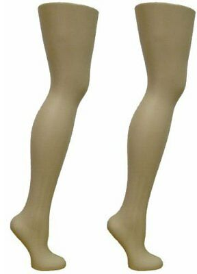 """2 Free Standing Female Mannequin Leg Sock and Hosiery Display Foot 28"""" Tall o..."""