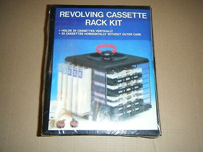 Vintage retro REVOLVING CASSETTE RACK KIT new unopened
