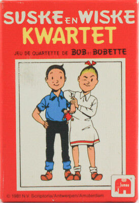 SUSKE & WISKE KWARTET 1981 - BOB et BOBETTE QUARTETTE - JUMBO CARDS NEW & SEALED