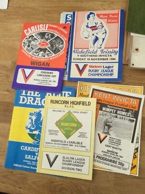 10 x rugby league programmes from defunct clubs 1980's