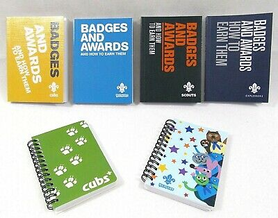 Adult Kids Explorers Scout Beavers Cubs Note Book Notepad Booklet Badges Awards
