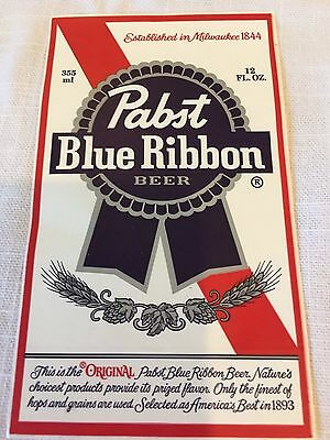***PABST BLUE RIBBON BEER***PBR LOGO STICKER RETRO Decal Free Shipping