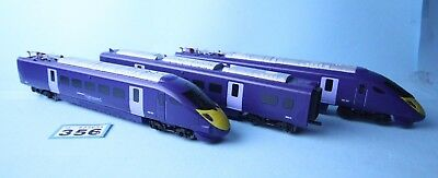 Hornby 'oo' Gauge 'blue Rapier' Ex Train Set 3 Car Emu Loco Set Unboxed #356
