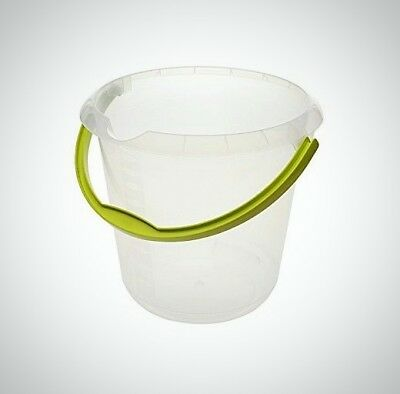Keeeper Phenix Bucket With Spout Plastic Transparent 10 Litre Handle Colored