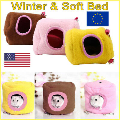 winter House Soft Bed Pet for Rat Hamster Squirrel Hanging Bed Toy House UK FR