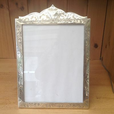 Large Vintage Sterling Silver Wooden Backed Photograph Frame