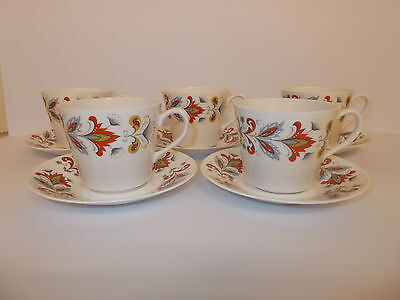 5 x Queen Anne Bone China Coffee Cups and Saucers Lovely