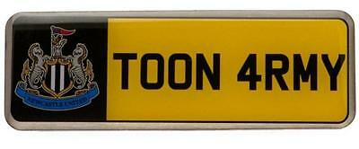 NEWCASTLE UNITED number plate pin Badge Official merchandise + Free Postage